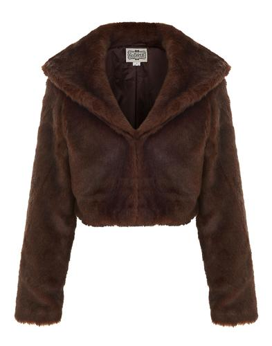 Clara COLLECTIF Retro Vintage Faux Fur Jacket