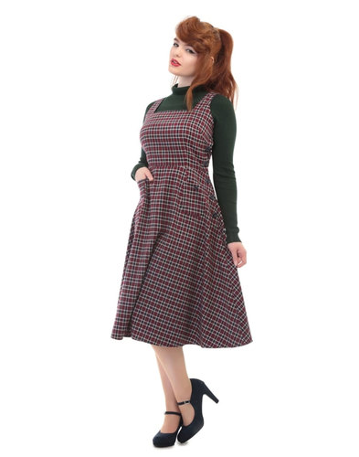 Collectif retro vintage overall pinafore dress