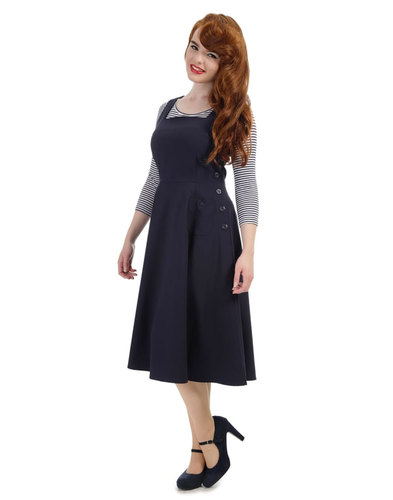 Collectif retro pinafore overall dress gertrude