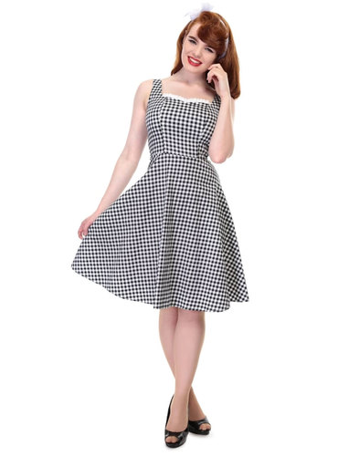 Collectif Retro 50s Vintage Gingham Swing Dress