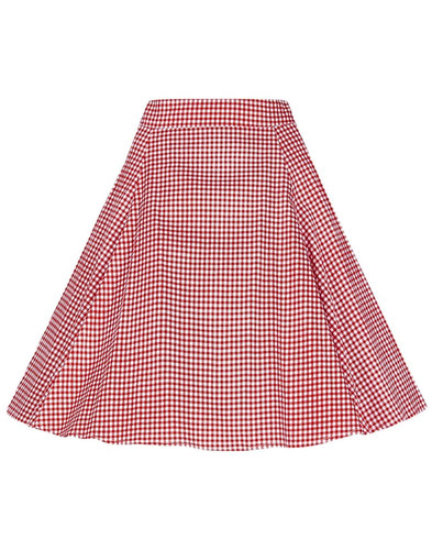 Tammy COLLECTIF Retro 50s Gingham Circle Skirt