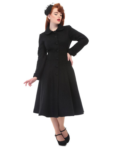 Lillian COLLECTIF 50s Boucle Peter Pan Collar Coat