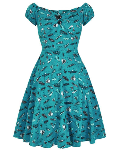 Collectif Retro 50s Mini Dolores Dress Car Print