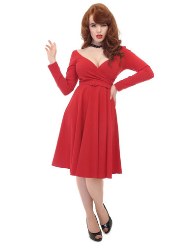Collectif Retro Doll Dress Nicky Red
