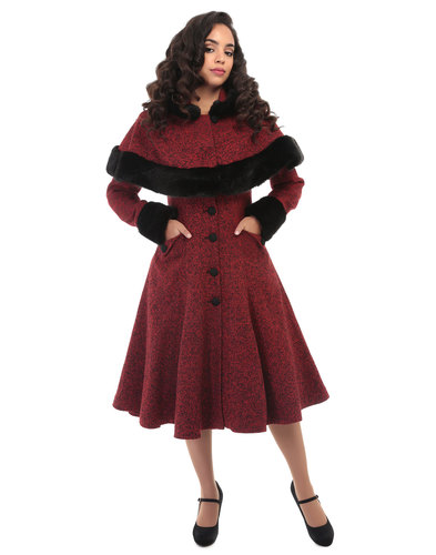 Collectif retro Vintage Princess Coat Red