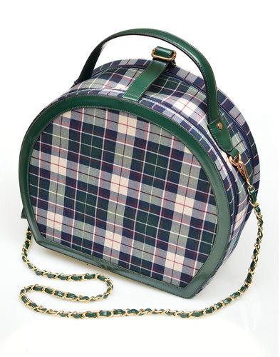 Rachel COLLECTIF Retro 50s Check Travel Bag GREEN