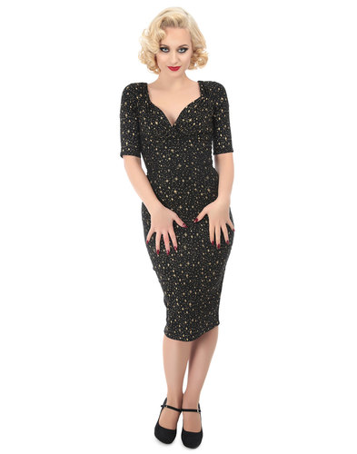 Collectif Retro Vintage 50s Atom Star Pencil Dress