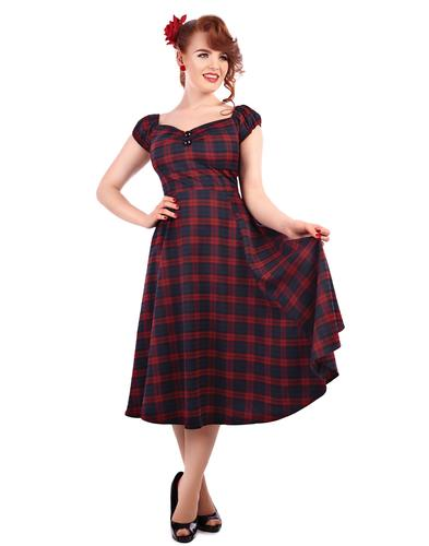 COLLECTIF RETRO VINTAGE 50s DOLL DRESS DOLORES
