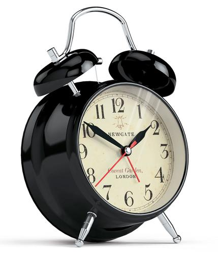 NEWGATE CLOCKS RETRO COVENT GARDEN ALARM CLOCK