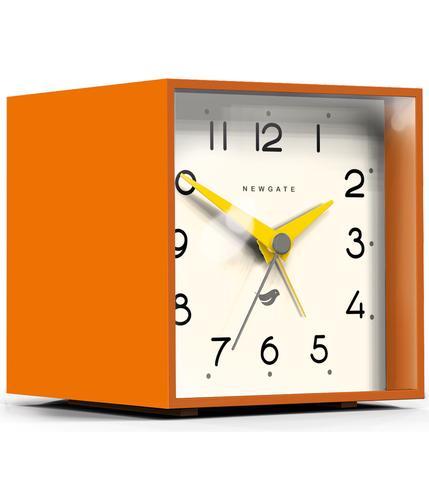 NEWGATE CUBIC II RETRO MANTEL ALARM CLOCK PUMPKIN
