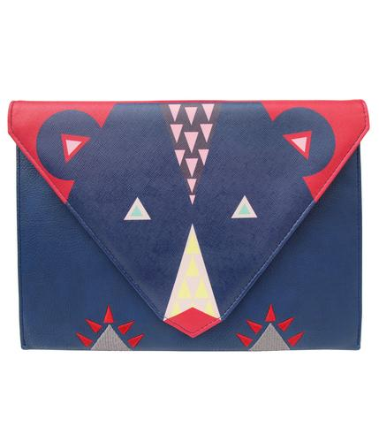 RETRO DAKOTA BEAR CLUTCH HANDBAG BAG