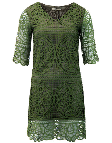 Brandie DARLING Retro 60s Embroidered Tunic Dress