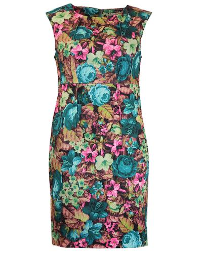 DARLING RETRO VINTAGE DIGI FLORAL DRESS
