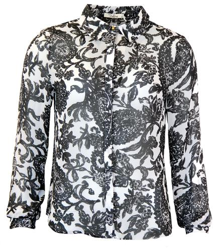 DARLING RETRO 70s FLORAL SHIRT