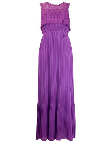 DARLING RETRO VINTAGE LACE MAXI DRESS PURPLE