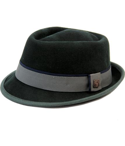 DASMARCA EDWARD MOD WOOL FELT PORKPIE HAT BLACK