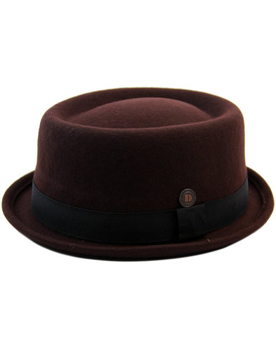 dasmarca jack mod revival ska porkpie hat brown