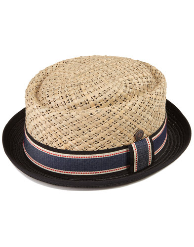 Jake DASMARCA Mod Hand Woven Straw Porkpie Hat