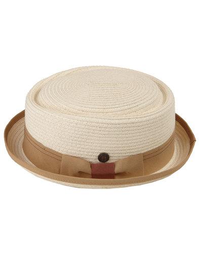 Rico DASMARCA Retro Mod Weave Pork Pie Hat IVORY