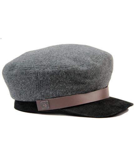 DASMARCA JAKE RETRO 60s MOD TRAIN DRIVER CAP GREY