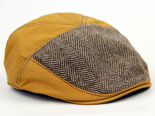 DASMARCA RETRO FLAT GATSBY HAT CAP HERRINGBONE