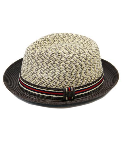 DASMARCA HATS RETRO MOD STRAW TRILBY