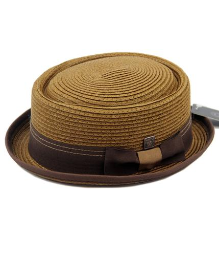 DASMARCA HATS RETRO MOD STRAW PORKPIE HAT