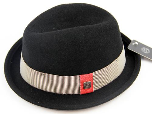 Ronald DASMARCA Retro Mod Felt Trilby Hat (BLACK)