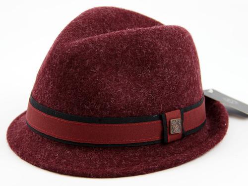 Justin DASMARCA Retro Mod Wool Felt Trilby Hat (M)