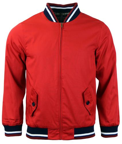 DAVID WATTS RETRO MOD 60s MONKEY JACKET RED