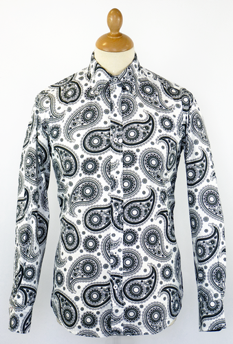 DAVID WATTS MOD RETRO 60S MONO PAISLEY