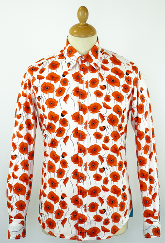 DAVID WATTS MOD RETRO 70S POPPY SHIRT
