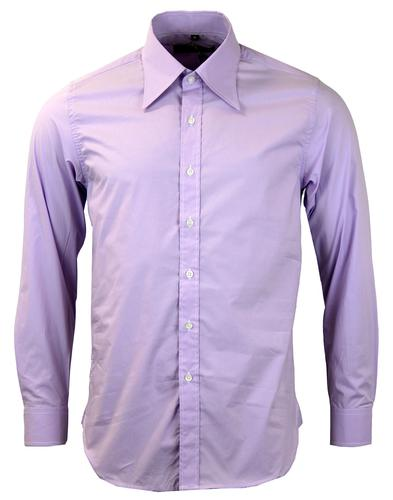 DAVID WATTS RETRO MOD SPEARPOINT COLLAR SHIRT