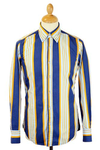 DAVID WATTS RETRO MOD 70S STRIPED SHIRT