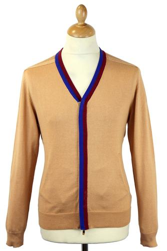 DAVID WATTS RETRO MOD 70S ZIP CARDIGAN TOMBALL