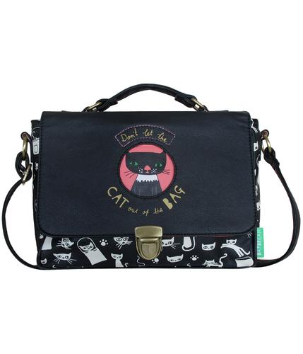 RETRO MOD VINTAGE CAT BAG HANDBAG SATCHEL