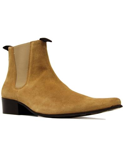 Beatle DELICIOUS JUNCTION Cuban Chelsea Boots SAND