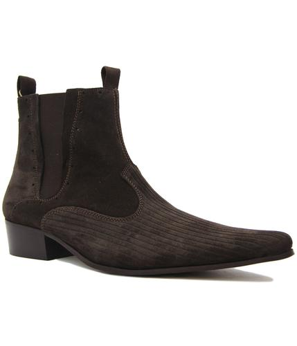 delicious junction freakbeat suede chelsea boots