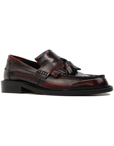delicious junction rudeboy retro mod loafers bordo