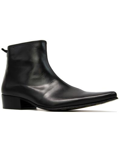 Ziggy DELICIOUS JUNCTION Black Zip Chelsea Boots