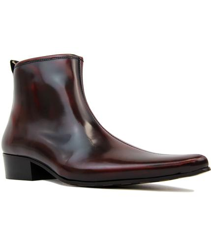 delicious junction ziggy oxblood zip chelsea boots