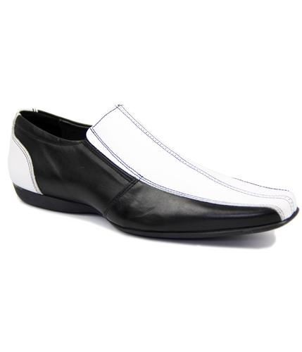DELICIOUS JUNCTION RETRO MOD BLACK WHITE SHOES