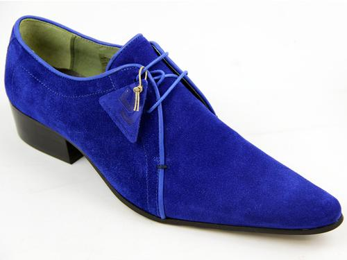 Matlock DELICIOUS JUNCTION Winklepicker Shoes BLUE