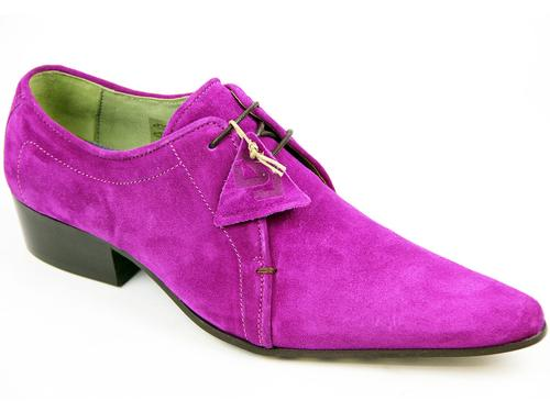 DELICIOUS JUNCTION MATLOCK SUEDE MOD SHOES PURPLE