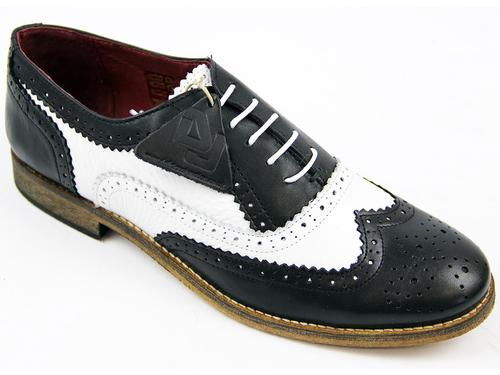 DELICIOUS JUNCTION WOMENS BROGUES SHOES BLACK