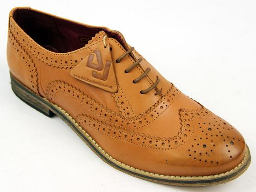 DELICIOUS JUNCTION WOMENS BROGUES SHOES TAN