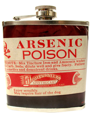 Disaster Apothecary Arsenic Poison Hip Flask