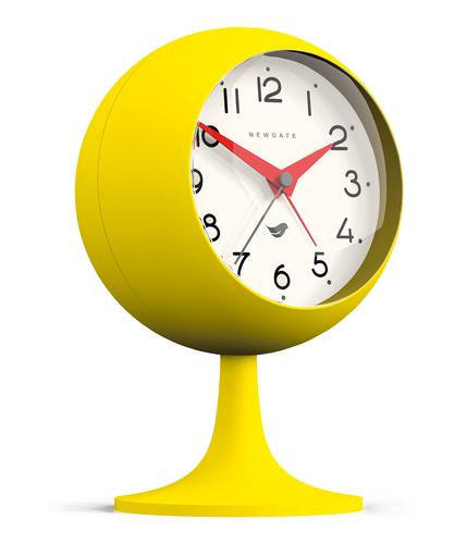 NEWGATE CLOCKS RETRO 60s DOME ALARM CLOCK CITRUS