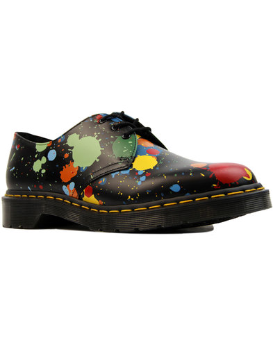dr martens 1461 paint splatter retro 70s mod shoes