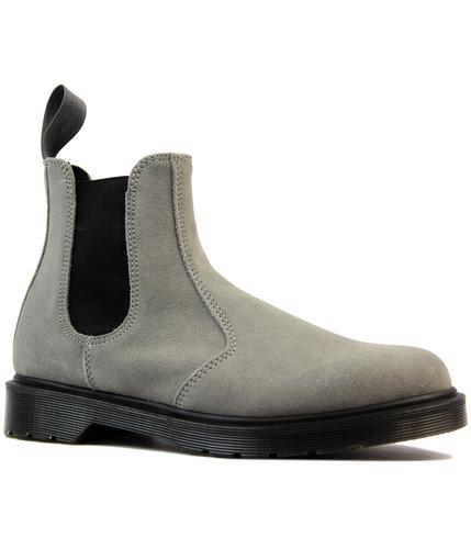 dr martens 2976 retro mod suede chelsea boots grey